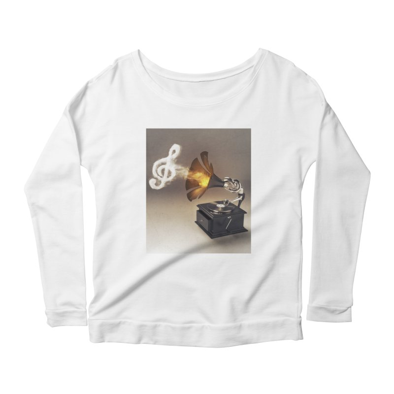 Let The Music Play Women's Longsleeve Scoopneck  by nickmanofredda's Artist Shop