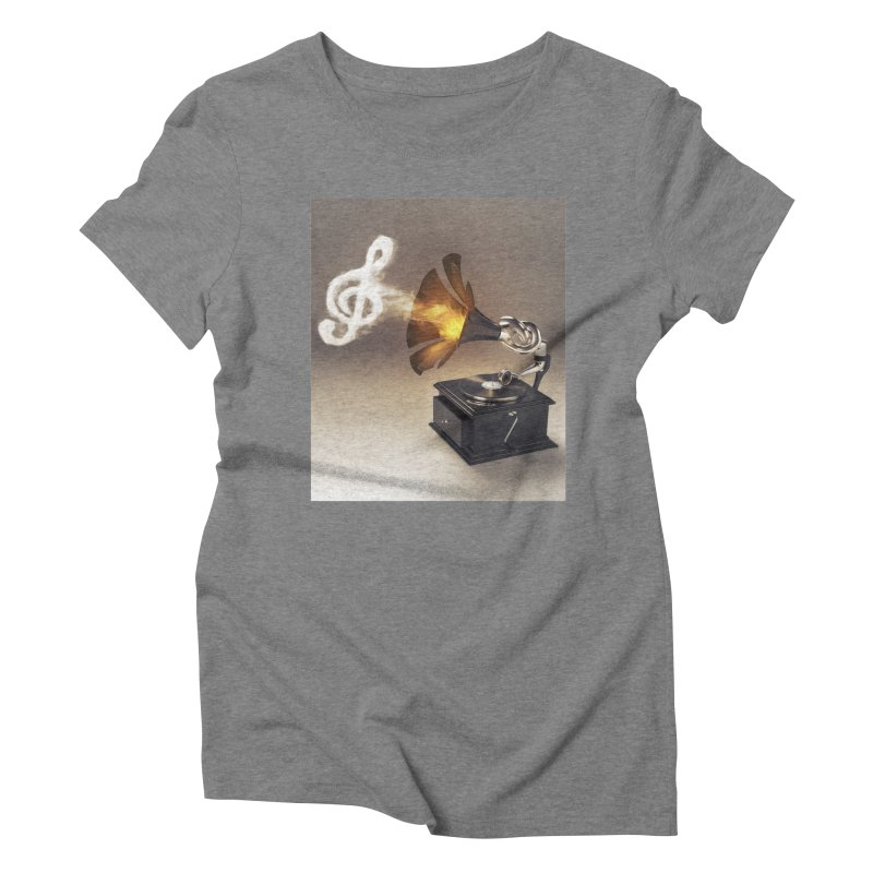 Let The Music Play Women's Triblend T-Shirt by nickmanofredda's Artist Shop