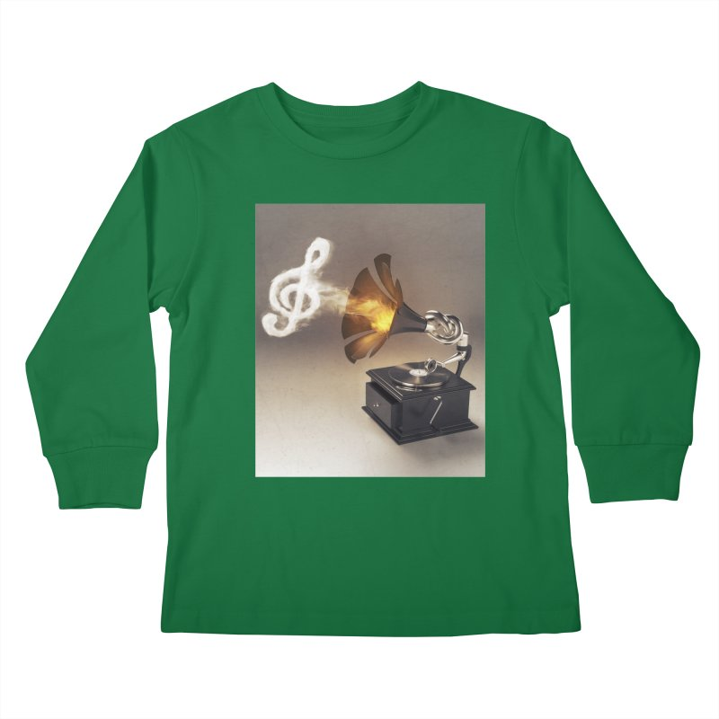Let The Music Play Kids Longsleeve T-Shirt by nickmanofredda's Artist Shop