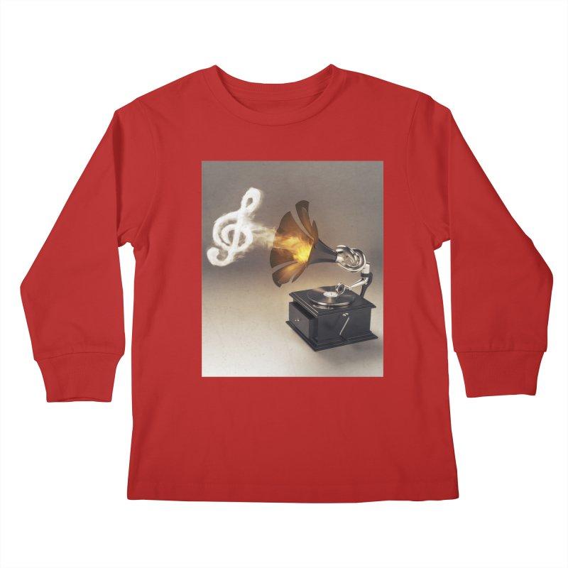 Let The Music Play Kids Longsleeve T-Shirt by nickmanofredda's Artist Shop