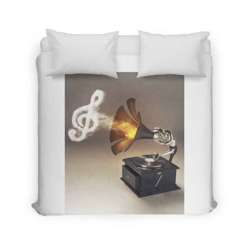 Let The Music Play Home Duvet by nickmanofredda's Artist Shop