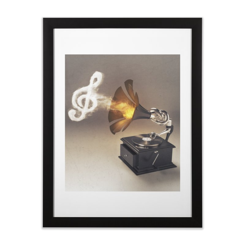 Let The Music Play Home Framed Fine Art Print by nickmanofredda's Artist Shop