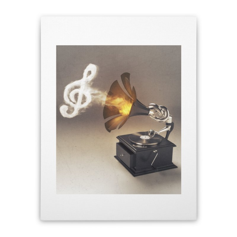 Let The Music Play Home Stretched Canvas by nickmanofredda's Artist Shop