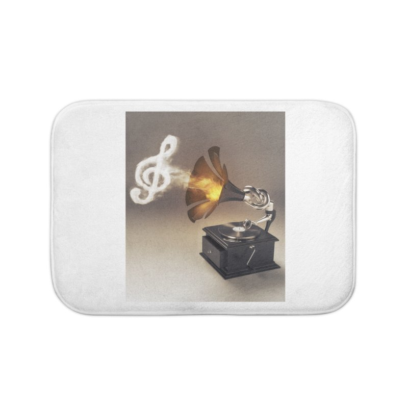 Let The Music Play Home Bath Mat by nickmanofredda's Artist Shop