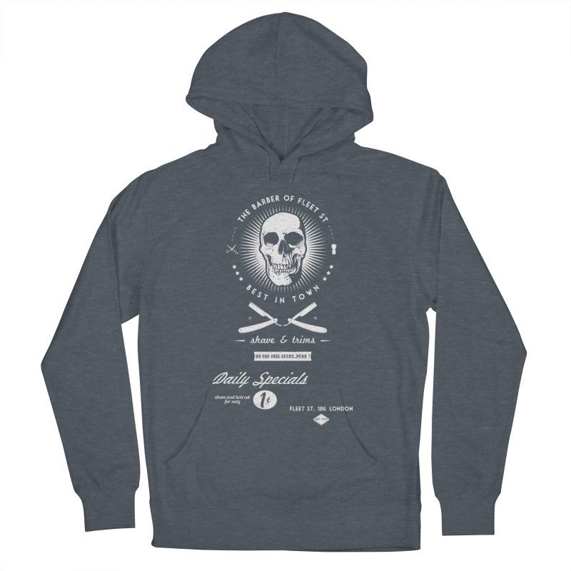 The Barber of Fleet St Women's French Terry Pullover Hoody by nickmanofredda's Artist Shop