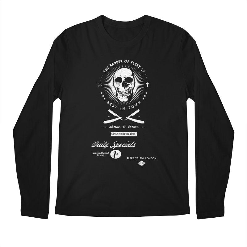 The Barber of Fleet St Men's Regular Longsleeve T-Shirt by nickmanofredda's Artist Shop