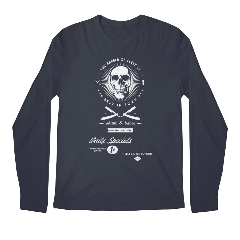 The Barber of Fleet St Men's Longsleeve T-Shirt by nickmanofredda's Artist Shop