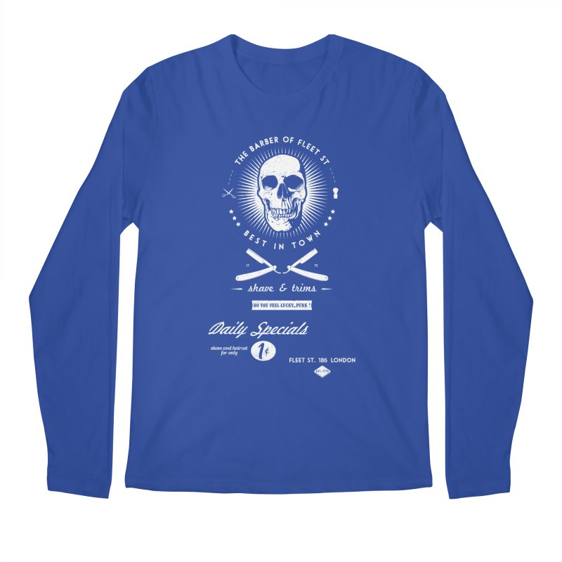 The Barber of Fleet St Men's Longsleeve T-Shirt by nickmanofredda's Artist Shop