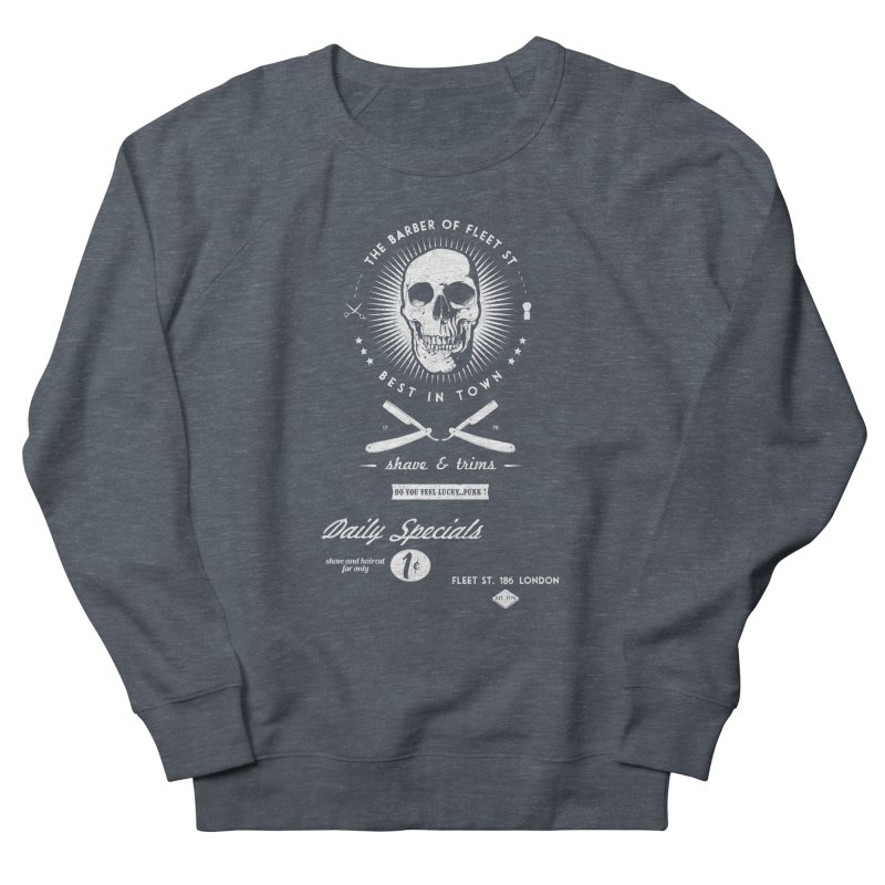 The Barber of Fleet St Men's French Terry Sweatshirt by nickmanofredda's Artist Shop