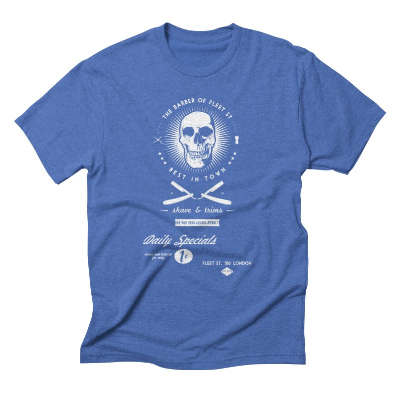 The Barber of Fleet St Men's Triblend T-Shirt by nickmanofredda's Artist Shop