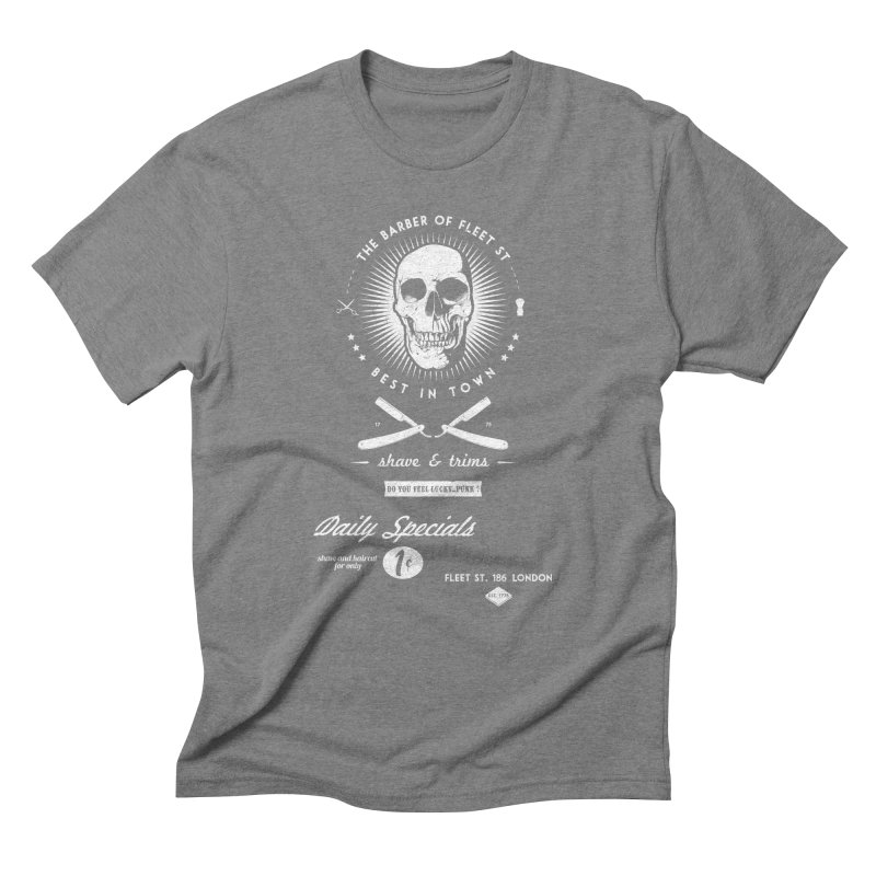 The Barber of Fleet St Men's Triblend T-Shirt by nickmanofredda's Artist Shop
