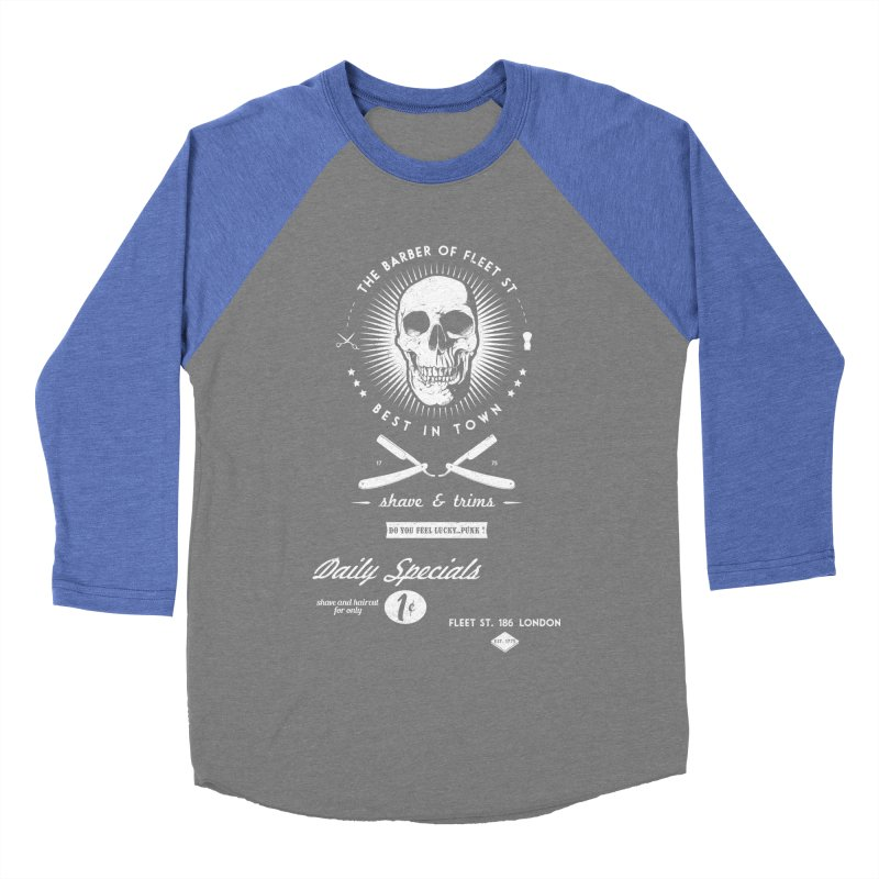The Barber of Fleet St Women's Baseball Triblend Longsleeve T-Shirt by nickmanofredda's Artist Shop