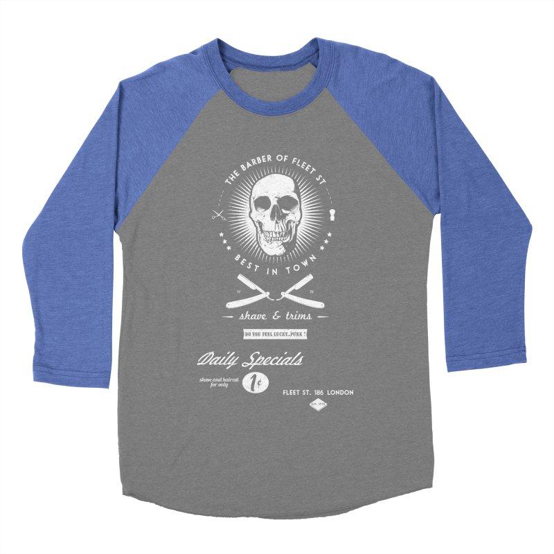 The Barber of Fleet St Men's Baseball Triblend Longsleeve T-Shirt by nickmanofredda's Artist Shop