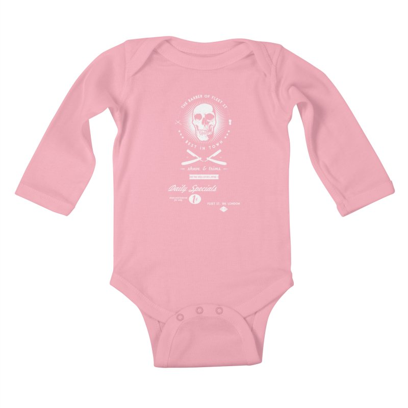 The Barber of Fleet St Kids Baby Longsleeve Bodysuit by nickmanofredda's Artist Shop