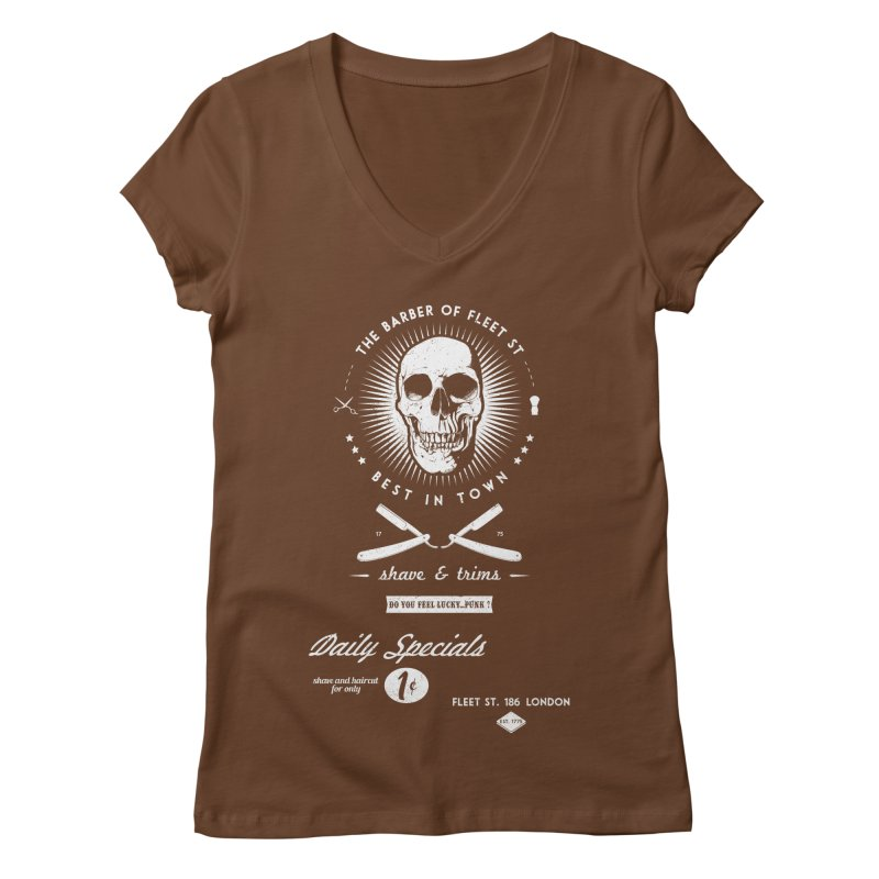 The Barber of Fleet St Women's Regular V-Neck by nickmanofredda's Artist Shop