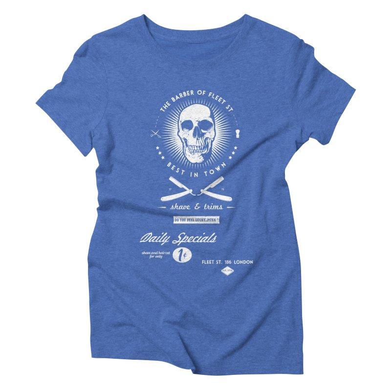 The Barber of Fleet St Women's Triblend T-Shirt by nickmanofredda's Artist Shop