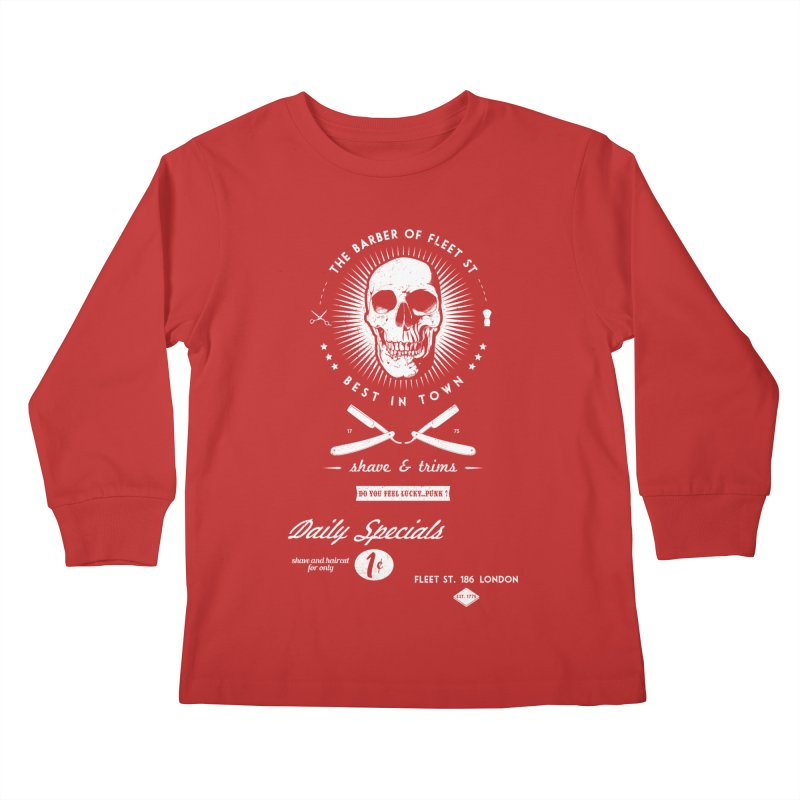 The Barber of Fleet St Kids Longsleeve T-Shirt by nickmanofredda's Artist Shop