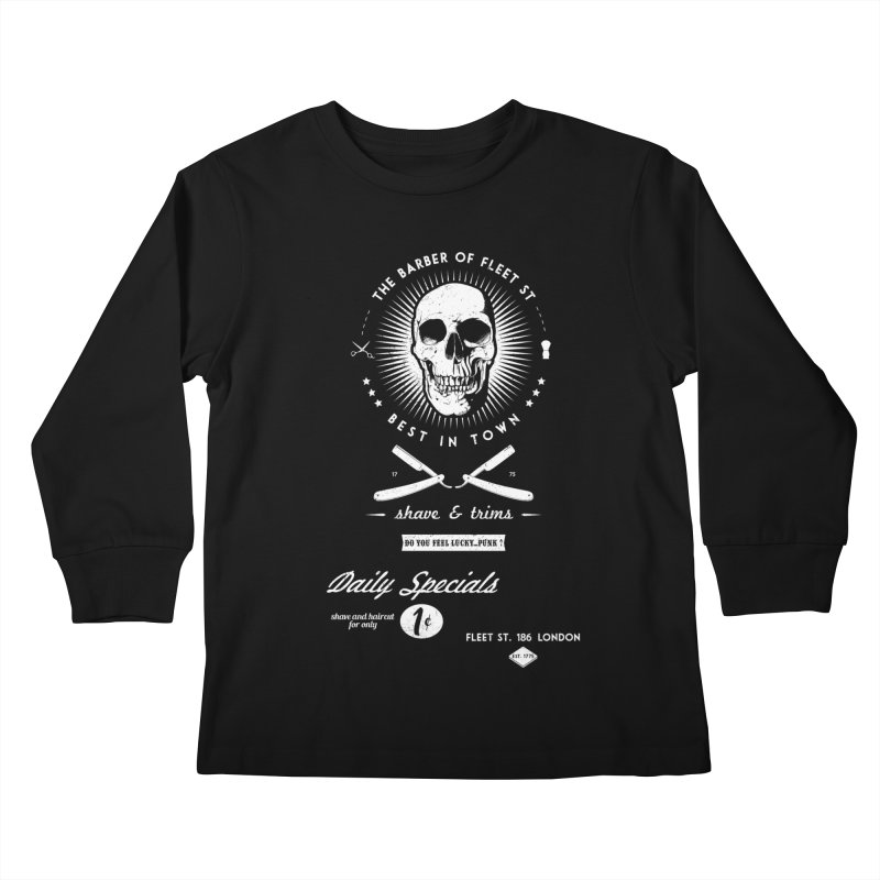 The Barber of Fleet St Kids Longsleeve T-Shirt by nickmanofredda's Artist Shop