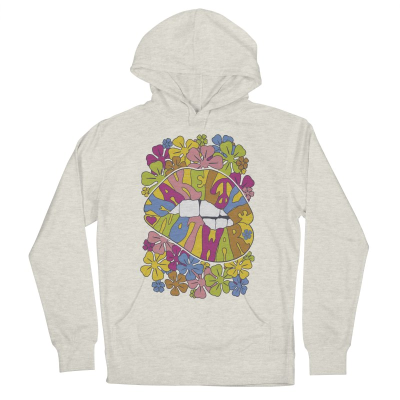 make love not war_2 Women's French Terry Pullover Hoody by nickmanofredda's Artist Shop