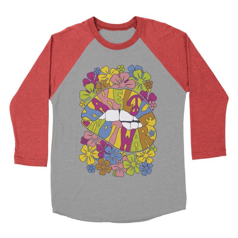 make love not war_2 Women's Baseball Triblend T-Shirt by nickmanofredda's Artist Shop