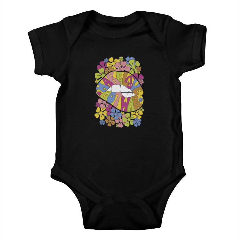 make love not war_2 Kids Baby Bodysuit by nickmanofredda's Artist Shop
