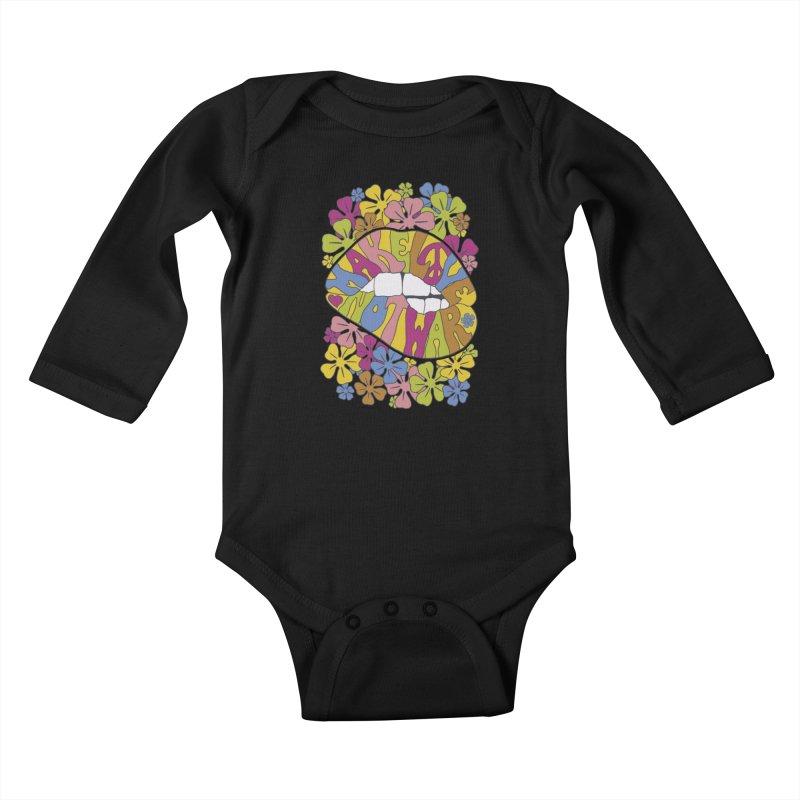 make love not war_2 Kids Baby Longsleeve Bodysuit by nickmanofredda's Artist Shop