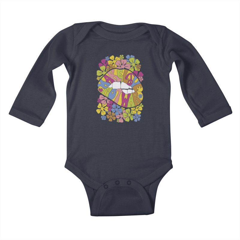 make love not war_2 Kids Baby Longsleeve Bodysuit by nickmanofredda's Artist Shop