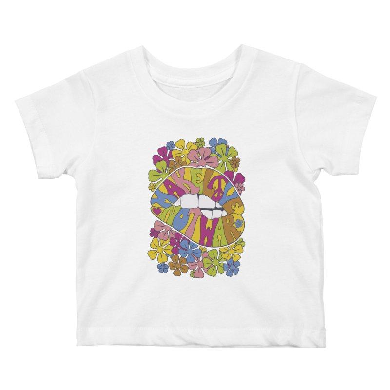 make love not war_2 Kids Baby T-Shirt by nickmanofredda's Artist Shop