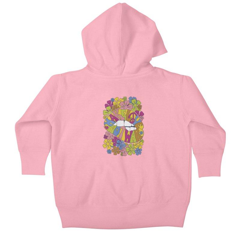 make love not war_2 Kids Baby Zip-Up Hoody by nickmanofredda's Artist Shop