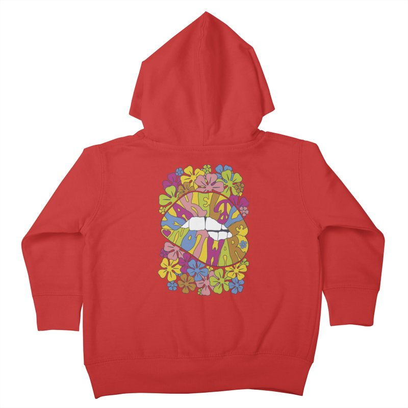 make love not war_2 Kids Toddler Zip-Up Hoody by nickmanofredda's Artist Shop