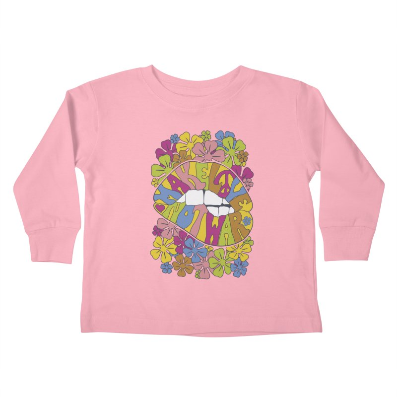 make love not war_2 Kids Toddler Longsleeve T-Shirt by nickmanofredda's Artist Shop
