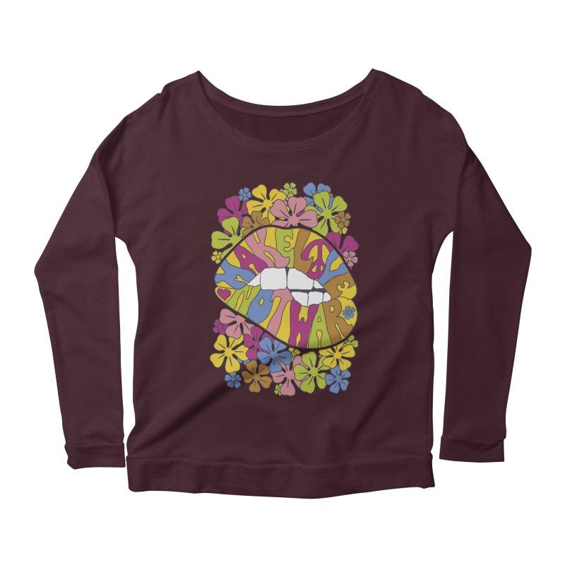 make love not war_2 Women's Scoop Neck Longsleeve T-Shirt by nickmanofredda's Artist Shop