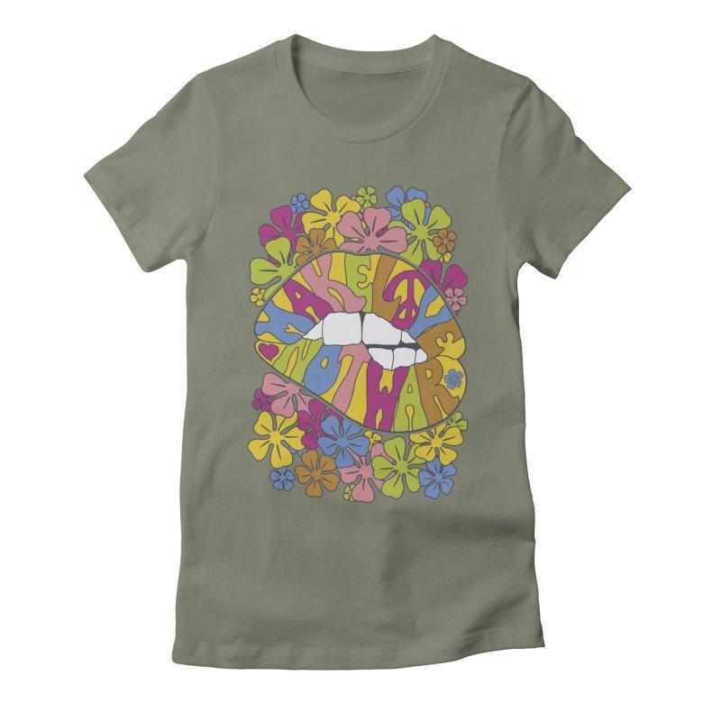 make love not war_2 Women's Fitted T-Shirt by nickmanofredda's Artist Shop