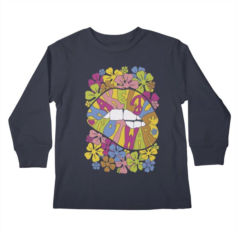 make love not war_2 Kids Longsleeve T-Shirt by nickmanofredda's Artist Shop