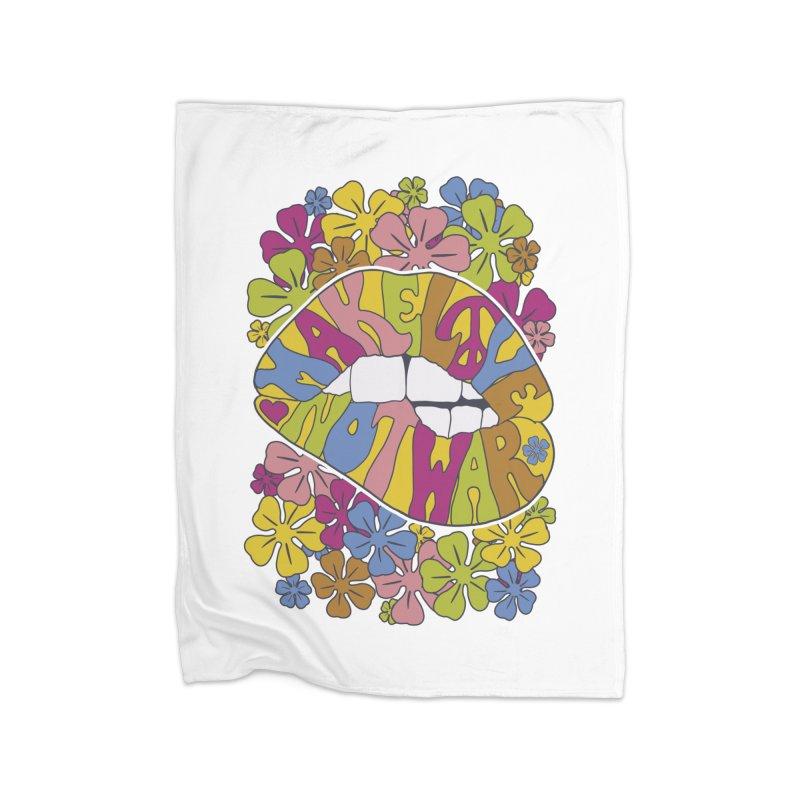 make love not war_2 Home Blanket by nickmanofredda's Artist Shop