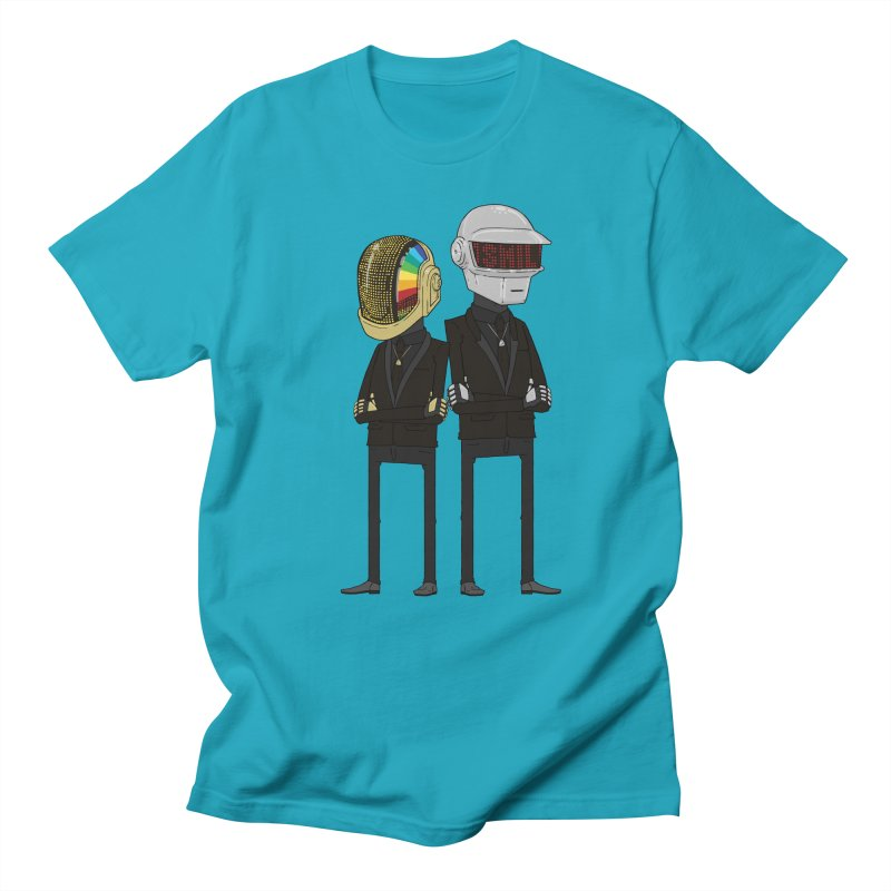 Daft Punk in Men's T-Shirt Cyan by nickmarsh's Artist Shop