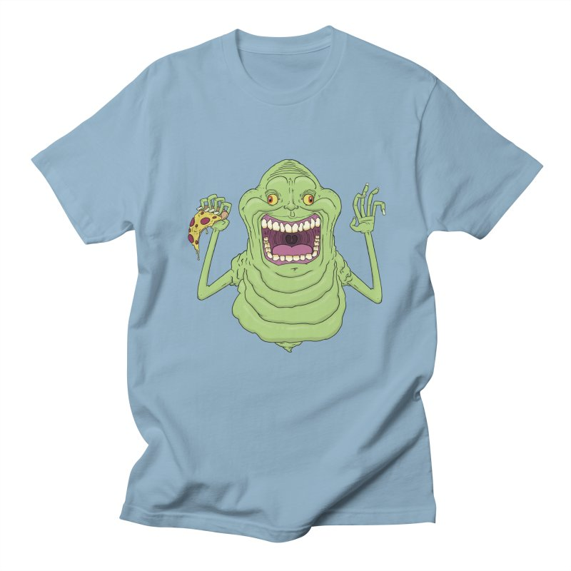 Slimer in Men's T-Shirt Light Blue by nickmarsh's Artist Shop