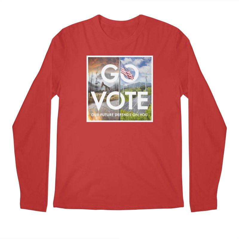 Go Vote Men's Longsleeve T-Shirt by Nick Pedersen - Artist Shop