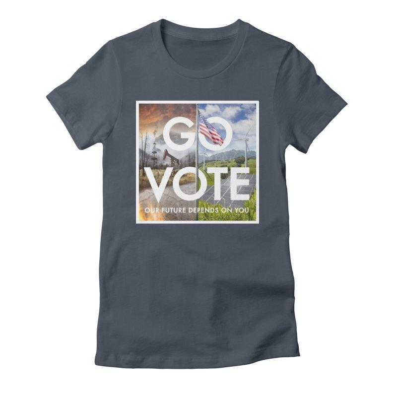 Go Vote Women's T-Shirt by Nick Pedersen - Artist Shop