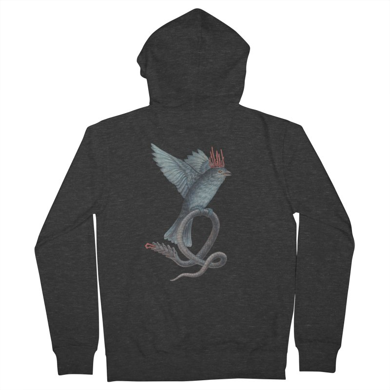 Bird Snake Men's Zip-Up Hoody by Nick Sheehy's Artist Shop