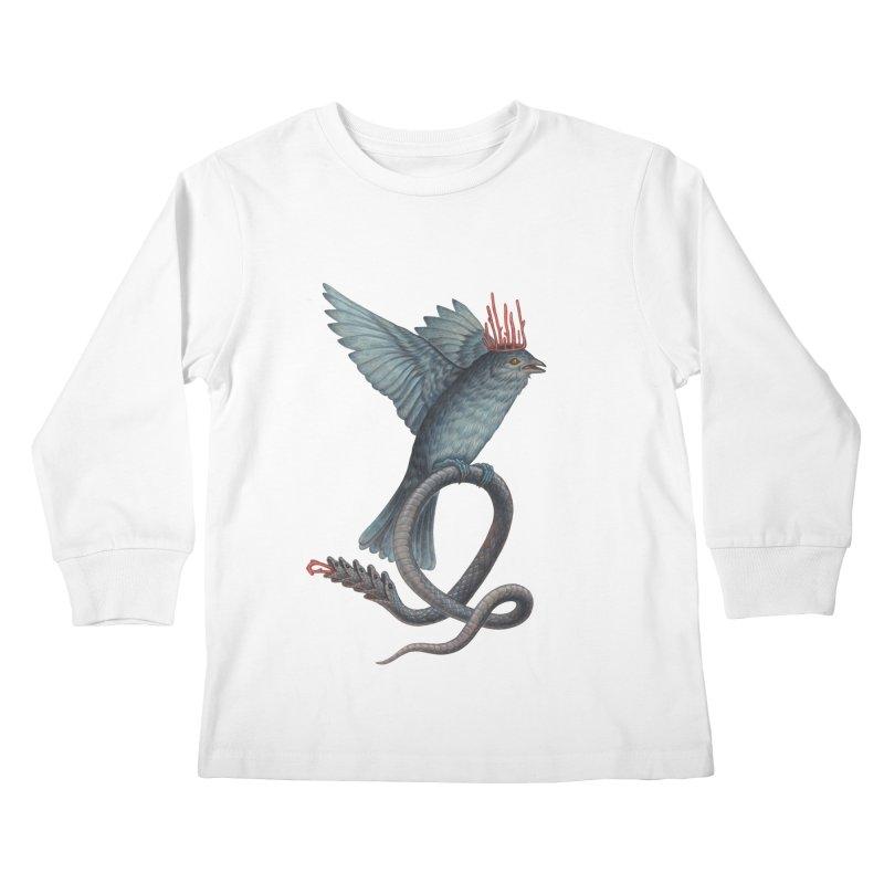 Bird Snake Kids Longsleeve T-Shirt by Nick Sheehy's Artist Shop