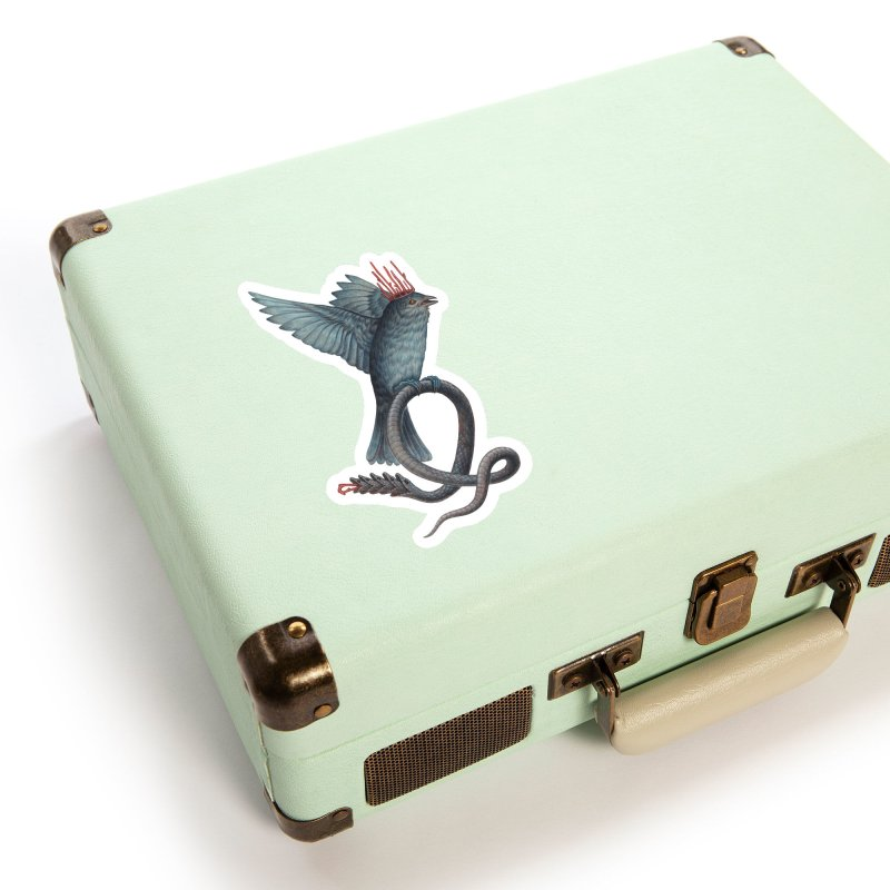Bird Snake Accessories Sticker by Nick Sheehy's Artist Shop