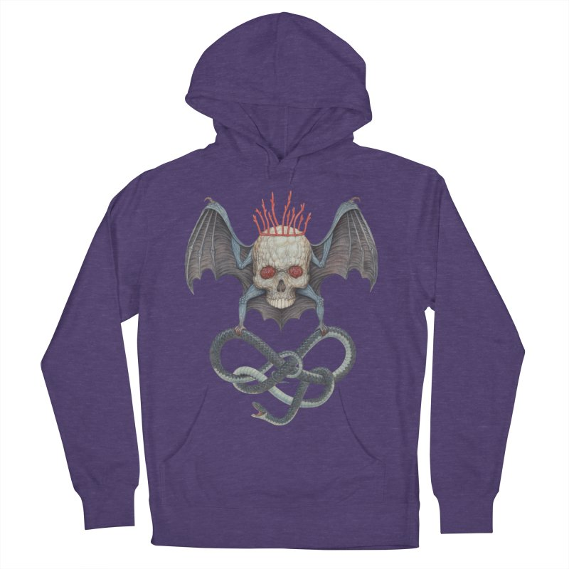 Muscle Bat Men's French Terry Pullover Hoody by Nick Sheehy's Artist Shop