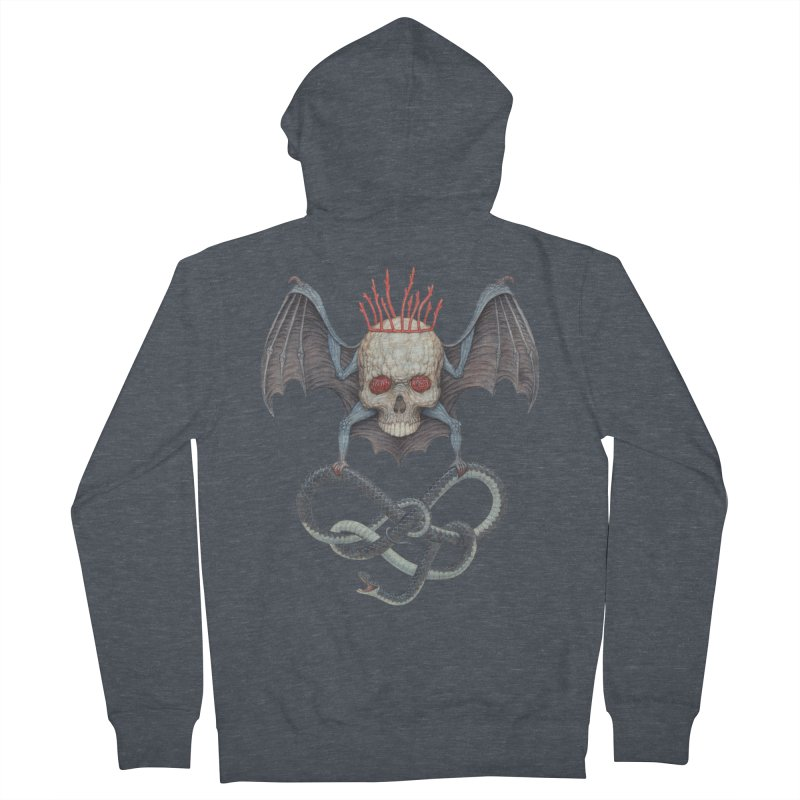 Muscle Bat Men's French Terry Zip-Up Hoody by Nick Sheehy's Artist Shop