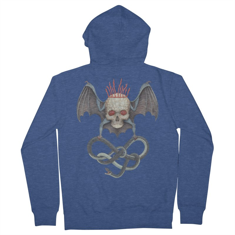 Muscle Bat Men's Zip-Up Hoody by Nick Sheehy's Artist Shop