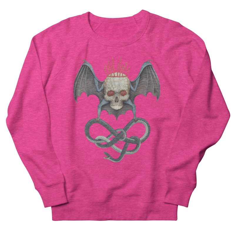 Muscle Bat Women's French Terry Sweatshirt by Nick Sheehy's Artist Shop
