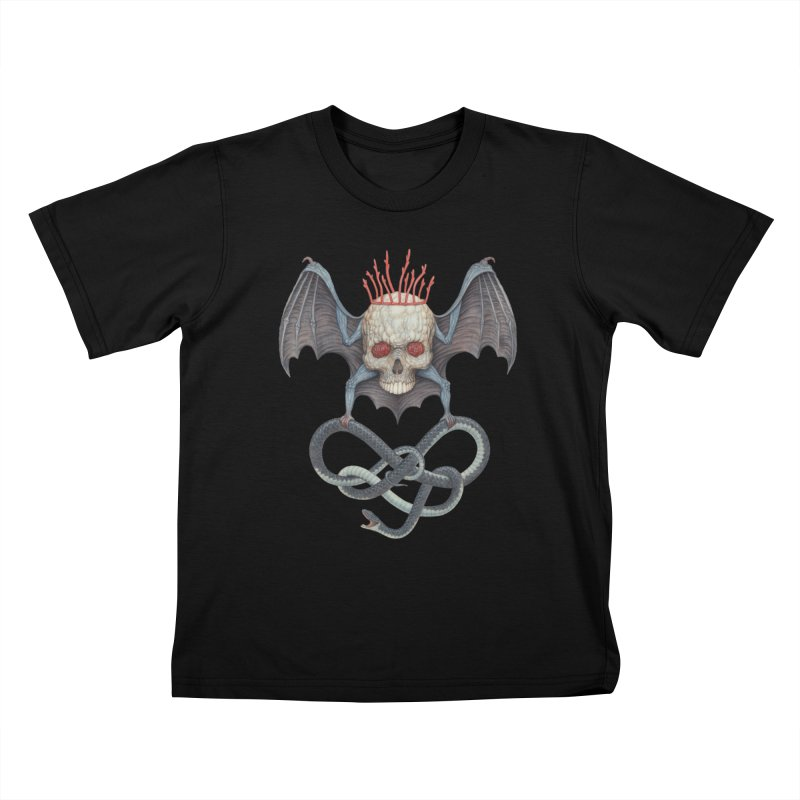 Muscle Bat Kids T-Shirt by Nick Sheehy's Artist Shop