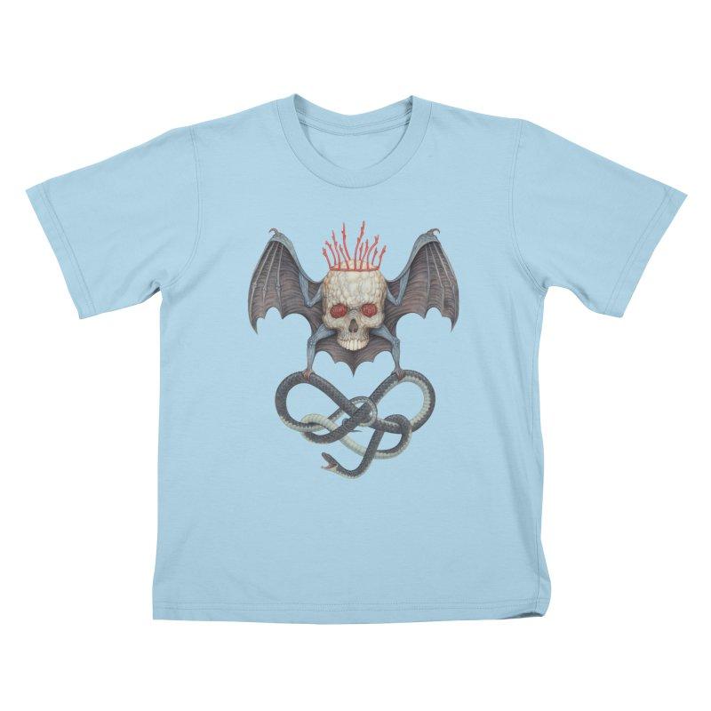 Muscle Bat Kids T-Shirt by Nick Sheehy's Artist Shop