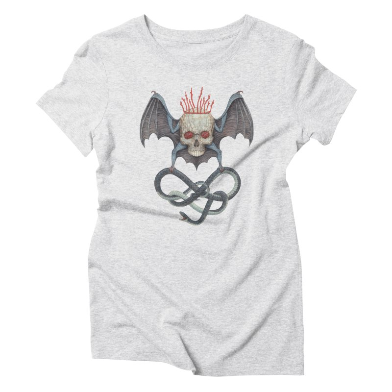 Muscle Bat Women's Triblend T-Shirt by Nick Sheehy's Artist Shop