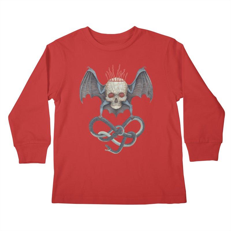 Muscle Bat Kids Longsleeve T-Shirt by Nick Sheehy's Artist Shop